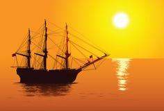 3 d krajobrazu rejsów statku słońca Obraz Stock