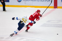D. Krasnoslobodcev (62) and M. Afinogenov (61) Royalty Free Stock Photos