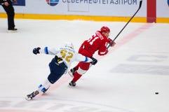 D Krasnoslobodcev (62) och M Afinogenov (61) Royaltyfria Foton