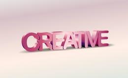 3D Kreatywnie tekst z cieniem Fotografia Royalty Free