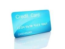 3d kredietkar op witte achtergrond Stock Fotografie