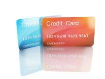 3d kredietkar op witte achtergrond Stock Foto's