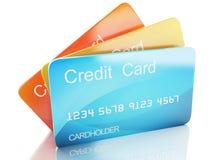 3d kredietkar op witte achtergrond Royalty-vrije Stock Fotografie
