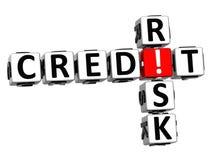 3D Kredytowego ryzyka Crossword Fotografia Stock