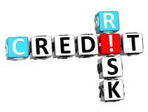 3D Kredytowego ryzyka Crossword Zdjęcie Stock