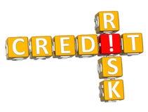3D Kredytowego ryzyka Crossword Obraz Royalty Free