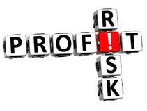3D Kredytowego ryzyka Crossword Zdjęcia Stock