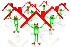 3D kreskówki żaby - domowy pojęcie Obraz Stock