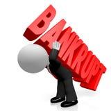 3D kreskówki character/biznesmen - bankrutujący pojęcie ilustracja wektor