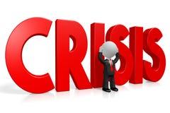 3D kreskówki character/biznesmen - kryzysu pojęcie ilustracji