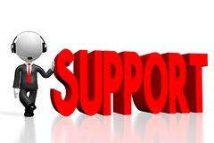 3D kreskówki character/biznesmen - poparcia pojęcie Ilustracja Wektor