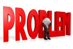 3D kreskówki character/biznesmen - problemowy pojęcie ilustracji