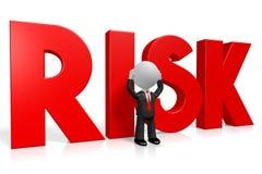 3D kreskówki character/biznesmen - ryzyka pojęcie ilustracji