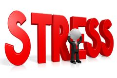 3D kreskówki character/biznesmen - stresu pojęcie royalty ilustracja