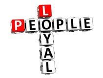 3D Kreuzworträtsel Loyal People auf weißem Hintergrund Stockfotografie