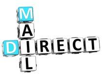 3D krijg Direct mailkruiswoordraadsel Stock Foto's
