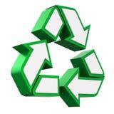 3D kringloopsymbool Stock Foto's