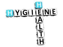 3D Kruiswoordraadsel van de Hygiënegezondheid Royalty-vrije Stock Foto