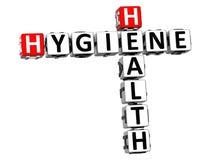 3D Kruiswoordraadsel van de Hygiënegezondheid Stock Foto