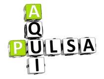 3D Kruiswoordraadsel van Pulsa Aqui Stock Foto's