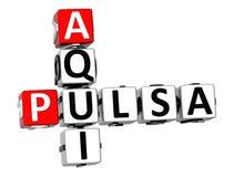 3D Kruiswoordraadsel van Pulsa Aqui Stock Afbeelding