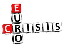 3D kryzysu Euro Crossword Zdjęcia Royalty Free