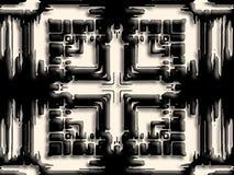 3D krzyż z chochlik sylwetkami Zdjęcie Stock