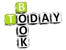 3D książki Dzisiaj Crossword Obraz Stock