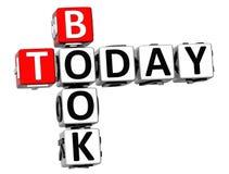 3D książki Dzisiaj Crossword Zdjęcia Stock