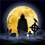 d 3 księżyc ilustracyjna noc Obrazy Royalty Free
