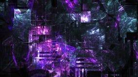 3d kształt z fractal miarowością, abstrakcjonistyczny informatyki tło, 3d odpłaca się, komputer wytwarzający ilustracja wektor