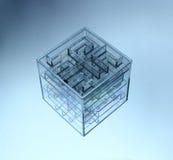 3d kub V 7 Royaltyfria Bilder