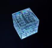 3d kub V 6 Royaltyfri Bild