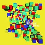 3d kubiczny projekt Obraz Stock