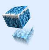 3d kubus op een lichte achtergrond Stock Afbeelding