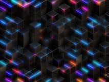 3d kubussen abstracte achtergrond vector illustratie