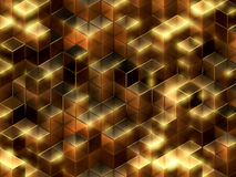 3d kubussen abstracte achtergrond Royalty-vrije Stock Foto's