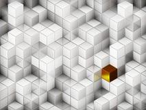 3d kubussen abstracte achtergrond royalty-vrije illustratie