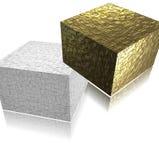 3d kubussen op een lichte achtergrond Stock Foto