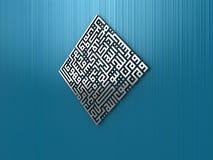 3D - Kufic - 01. Quran (65:2 - 85:3) [Talaq 2-3 Stock Photography