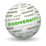 3d Kugel - biologische Vielfalt Stockfotografie