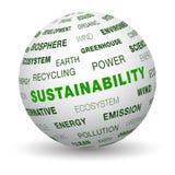 3d Kugel - Nachhaltigkeit Stockbild