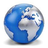 3d kuli ziemskiej ikona Zdjęcie Stock
