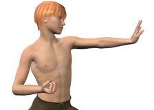 3D Kung Fu - Stock Foto