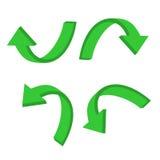 3d kurendy zieleni strzała Obraz Stock