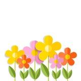 3d kwiaty odizolowywający na bielu Wektor EPS 10 Zdjęcie Royalty Free