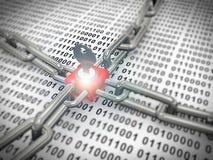 3d låste säkrade binära data Arkivbilder