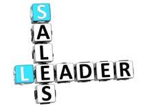 3D líder Sales Crossword Fotografia de Stock