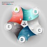 3D línea abstracta elemento infographic de la curva del extracto 3D Elemento de Infographic Foto de archivo libre de regalías