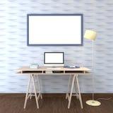 3d löschen Fotorahmen für Spott oben auf Wand Lizenzfreie Stockbilder